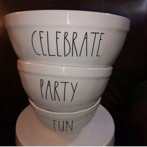 Rae Dunn Mixing Bowl Set New Party